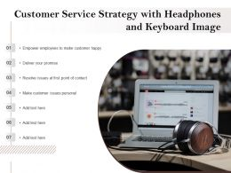 Customer Service Strategy With Headphones And Keyboard Image