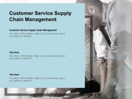 Customer Service Supply Chain Management Ppt Powerpoint Presentation File Display Cpb