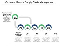 Customer Service Supply Chain Management Supplier Management Systems Cpb