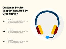 Customer Service Support Required By Organization