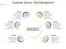 Customer Service Task Management Ppt Powerpoint Presentation File Visuals Cpb