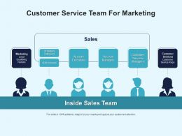 Customer Service Team For Marketing