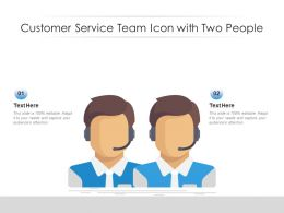 Customer Service Team Icon With Two People