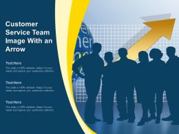 Customer Service Team Image With An Arrow