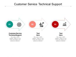 Customer Service Technical Support Ppt Powerpoint Presentation File Example File Cpb