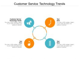Customer Service Technology Trends Ppt Powerpoint Presentation Portfolio Pictures Cpb