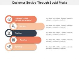 Customer Service Through Social Media Ppt Powerpoint Presentation File Mockup Cpb