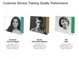 Customer Service Training Quality Performance Metrics Leadership Pillars Cpb