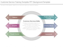 Customer Service Training Template Ppt Background Template