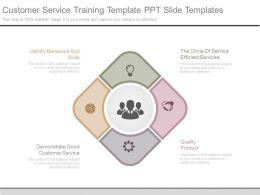 Customer Service Training Template Ppt Slide Templates