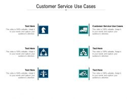 Customer Service Use Cases Ppt Powerpoint Presentation Summary Format Ideas Cpb
