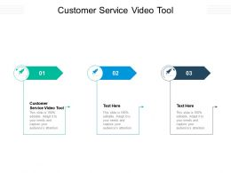 Customer Service Video Tool Ppt Infographic Template Infographic Template Cpb