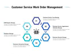Customer Service Work Order Management