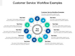 Customer Service Workflow Examples Ppt Powerpoint Presentation Professional Template Cpb