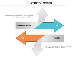 Customer Services Ppt Powerpoint Presentation File Summary Cpb