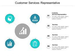 Customer Services Representative Ppt Powerpoint Presentation Portfolio Cpb