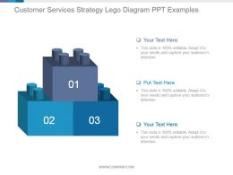 Customer Services Strategy Lego Diagram Ppt Examples