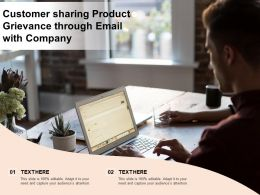 Customer Sharing Product Grievance Through Email With Company