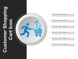 Customer Shopping Cart Icon Powerpoint Shapes
