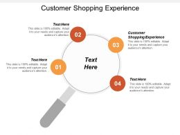 Customer Shopping Experience Ppt Powerpoint Presentation Infographic Template Professional Cpb