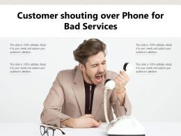 Customer Shouting Over Phone For Bad Services