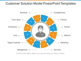 Customer Solution Model Powerpoint Templates