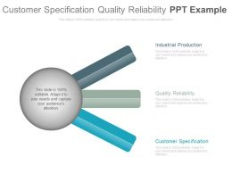 Customer Specification Quality Reliability Ppt Example