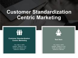 Customer Standardization Centric Marketing Ppt Powerpoint Presentation Model Icon Cpb