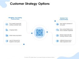 Customer Strategy Options Dropping Sales Ppt Powerpoint Presentation Styles Example