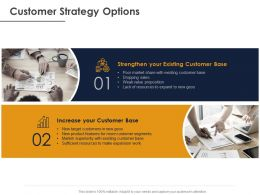 Customer Strategy Options Ppt Powerpoint Presentation Gallery Picture