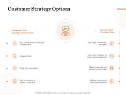 Customer Strategy Options Ppt Powerpoint Presentation Slides Clipart Images