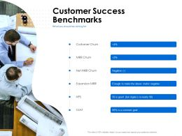 Customer Success Benchmarks Churn Ppt Powerpoint Presentation Styles Files