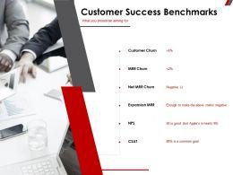 Customer Success Benchmarks Goal Ppt Powerpoint Presentation Styles Layout Ideas