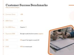 Customer Success Benchmarks Ppt Powerpoint Presentation Slides Design Templates