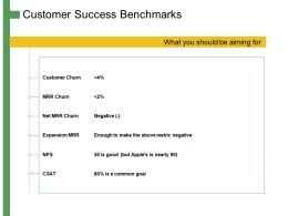 Customer Success Benchmarks Ppt Powerpoint Presentation Summary Graphics Template