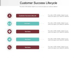 Customer Success Lifecycle Ppt Powerpoint Presentation Model Slide Portrait Cpb