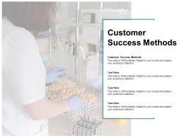 Customer Success Methods Ppt Powerpoint Presentation Designs Cpb
