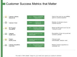 Customer Success Metrics That Matter Ppt Powerpoint Presentation Summary Graphics