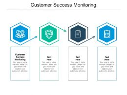 Customer Success Monitoring Ppt Powerpoint Presentation Icon Objects Cpb