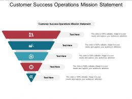 Customer Success Operations Mission Statement Ppt Powerpoint Presentation Template Cpb