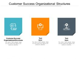 Customer Success Organizational Structures Ppt Powerpoint Presentation Layouts Visual Aids Cpb