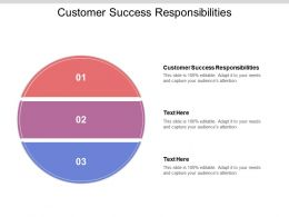 Customer Success Responsibilities Ppt Powerpoint Presentation Topics Cpb