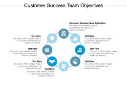 Customer Success Team Objectives Ppt Powerpoint Presentation Outline Professional Cpb