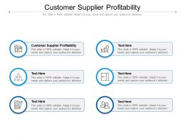 Customer Supplier Profitability Ppt Powerpoint Presentation Gallery Maker Cpb