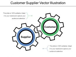 Customer Supplier Vector Illustration