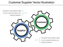 Customer Supplier Vector Illustration