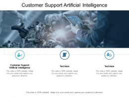 Customer Support Artificial Intelligence Ppt Powerpoint Presentation Pictures Inspiration Cpb