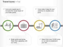 Customer Support Baggage Food Magazine Ppt Icons Graphics