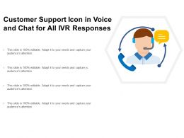 Customer Support Icon In Voice And Chat For All Ivr Responses