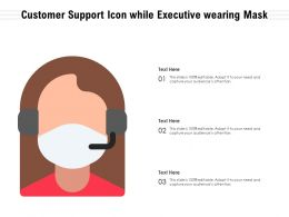 Customer Support Icon While Executive Wearing Mask